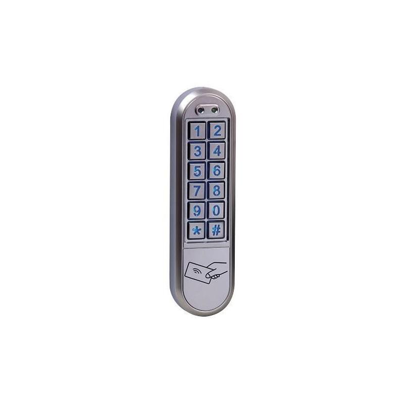 KRN1000 Clavier à codes etroit saillie 2 relais avec lecteur de badges
