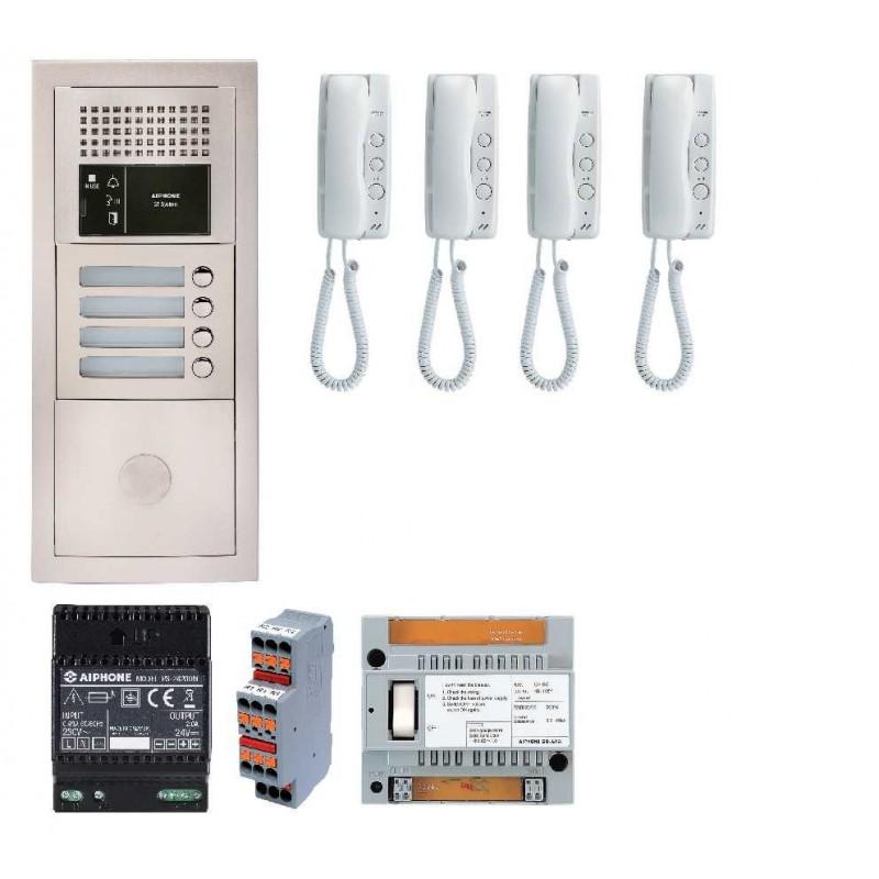 GTBA4E Portier audio 4 logements Aiphone