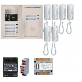 Aiphone GTBA6E Interphone audio 6 logements