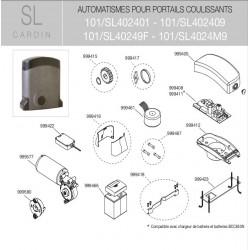 Clé de déverrouillage moteur + couvercle SL Cardin 999417