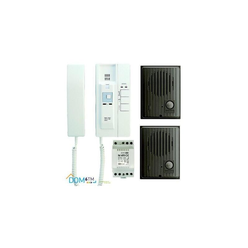 Aiphone IE2A2D Interphone avec 2 platines de rue IFDA