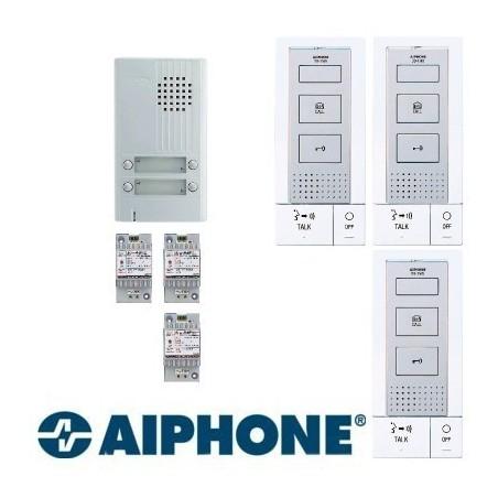 Aiphone KITDB3 Interphone 3 appartements mains libres