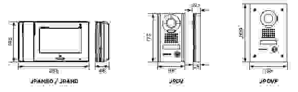 Dimension platine JPS4AEDF - Aiphone